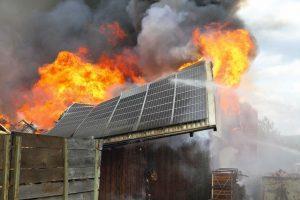 incendio nel fotovoltaico