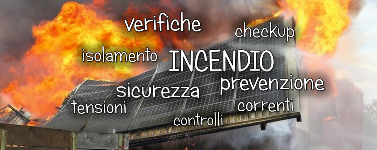 incendi nel fotovoltaico